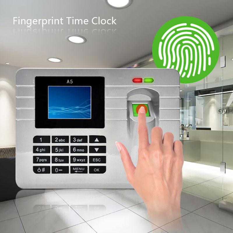 2.4 Inch TFT Screen Silver Free Software Fingerprint Attendance Time Clock High Quality<br><br>Aliexpress