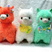 Adora Doll 45cm Alpaca Plush Toys With Bow Tie  White Green Kawaii Alpaca Alpacasso Peluches Baby Doll Christmas Gift(China (Mainland))