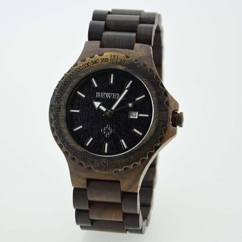 free shipping japan quartz wristwatch bewell brand wooden