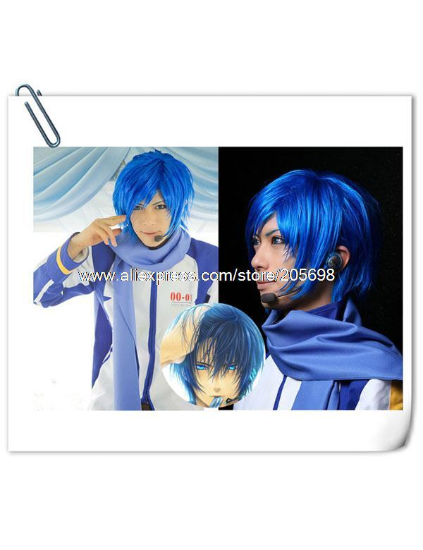 Гаджет  VOCALOID Kaito Blue High Quality Synthetic Cosplay wig anime halloween christmas w28 Free Shipping None Изготовление под заказ