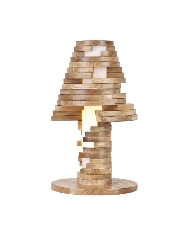perfect unique woodspot table lamp of pine digsdigs - Unique Table Lamps