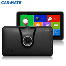 New 7 inch Full HD 1080P Car DVR Camera Recorder Car GPS Navigation Android Bluetooth MT8127 Quad-core Truck vehicle gps FM /8GB