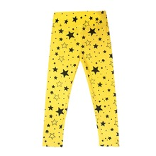 New Baby Girls Kids Skinny Toddlers Star Print Leggings Pants Trousers 2-7 Years