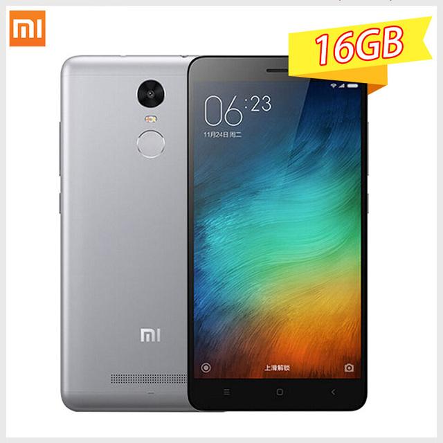 "Xiaomi Redmi Note 3 Pro 2 GB RAM 16 ГБ ROM Примечание 5.5 ""Snapdragon 650 отпечатков пальцев ID мобильного телефона MIUI8 смартфонов"
