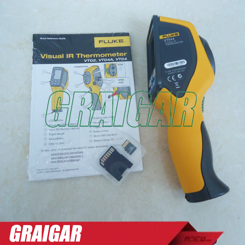 FLUKE VT04A Industrial Visual IR Thermometer Fluke VT04A  Portable Infrared IR Thermometer Free Shipping <br><br>Aliexpress