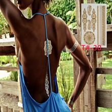 400 estilo de Metal ouro índia brilho tatuagem adesivos art tatuagens de flash do tatuagem temporária tatuagem de henna tatuagem