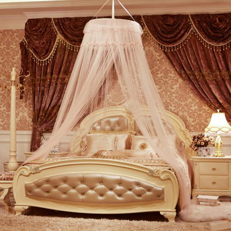 Paris Spring 1pc Elegant Round Lace Summer House Bed Netting Curtain Dome Mosquito Net Worldwide Mosquitera Malla De Mosquito(China (Mainland))