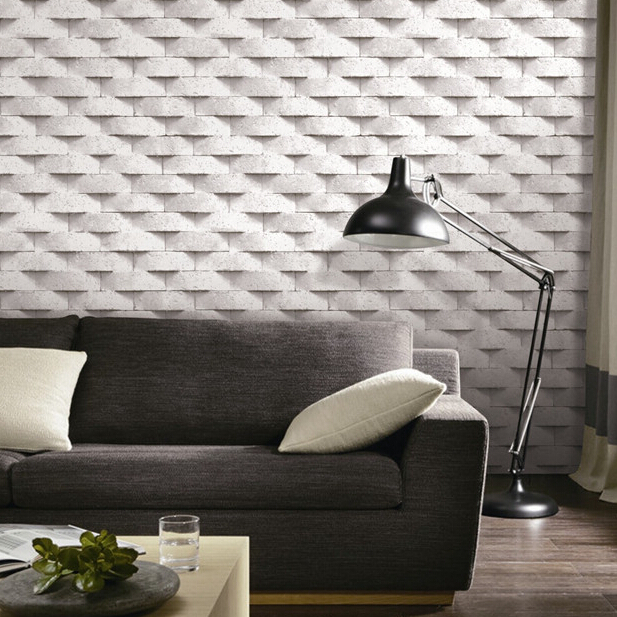 Brick 3D wallpaper grey beige stone wall paper papel de parede 3d para quart