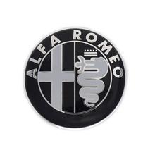 2pcs Black white New 74mm 7.4cm ALFA ROMEO Car Logo emblem Badge sticker for ALFA ROMEO Mito 147 156 159 166 Giulietta Spider GT(China (Mainland))