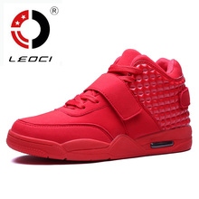 LEOCI New 2016 Basketball Shoes Men Medium Cut Air Sole Damping Basketball Sneakers Authletic Trainer Shoes For Adults