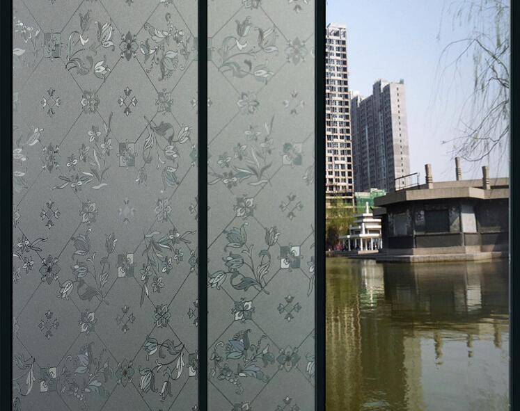 Popular decorative window film buy cheap decorative window for B q living room doors