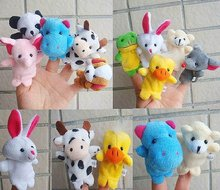 Freeshipping!Wholesale,Baby Plush Toy,Finger Puppets,Hand Puppets,Talking Props(10 animal group mixed)/Kids ChristmasGift(China (Mainland))