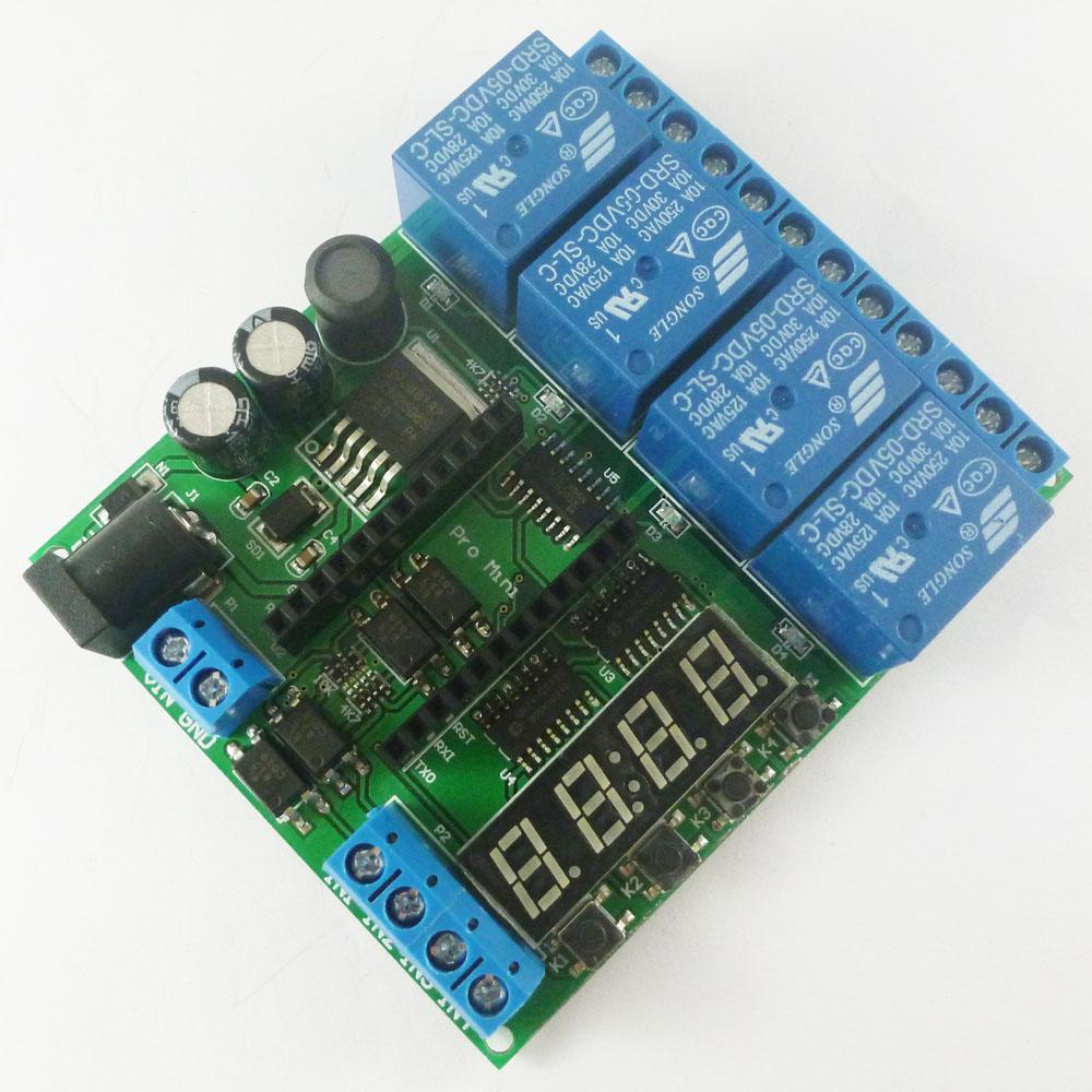Dc 5v 12v 24v 4 Channel Pro Mini Plc Board Relay Shield Module For High Current Arduino Io22c04 6 8
