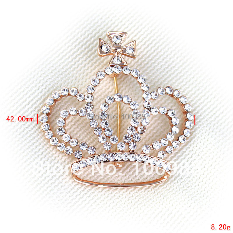 P1297-007 10PC/Lot Free Shipping new arrivals crystal rhinestone cross crown pin and brooch(China (Mainland))