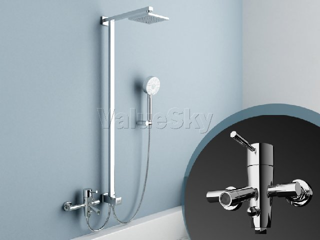 Top Brand New Quality Guaranteed Single Handle Lever Chrome Bathroom Shower F