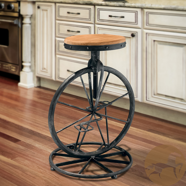 American country wrought iron bar stools retro wood lounge chairlift rotating Coffee Shop FREE SHIPPING(China (Mainland))