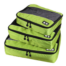 3 Pcs/Set Unisex Nylon Packing Cubes For Clothes Lightweight Luggage Travel Bags For Shirts Waterproof Duffle Bag Organizers(China (Mainland))