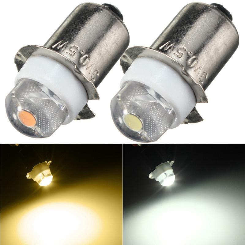 P13.5S PR2 0.5W LED For Focus Flashlight Replacement Bulb Torches Work Light Lamp 60-100Lumen Pure/Warm White DC 3V 4.5V 6V