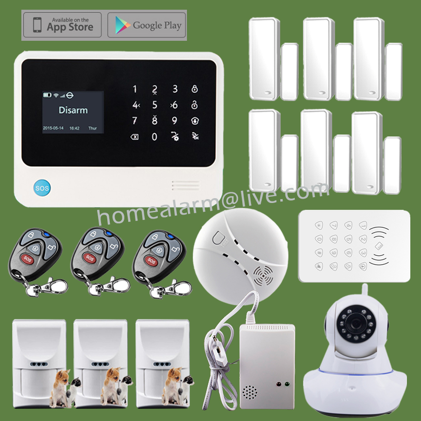 WiFi Wireless GSM GPRS Home Security Alarme Maisons GS-G90B IOS Android Control Fire Alarm System<br><br>Aliexpress
