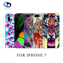 2016 Patterns Painted Drawing Hard Plastic Case For Iphone 7 Mobile Phone Cases Skin Hood Housing