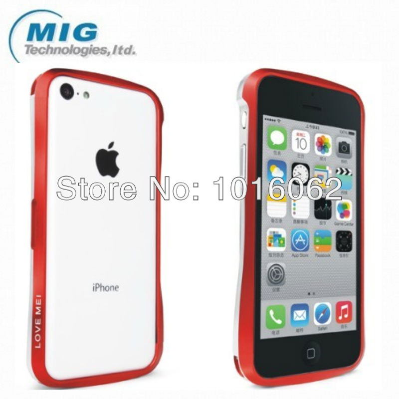 Free shipping Aluminum double color metal bumper luxury case for iphone 5C, for iphone 5C case with retail packaging 8 colors(China (Mainland))