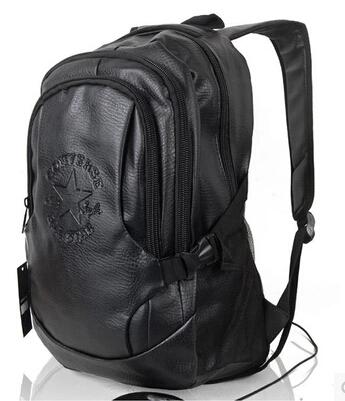 Fashion Tender 2015 Waterproof PU leather bags Restore ancient ways travel backpack bag black men high school students MF08
