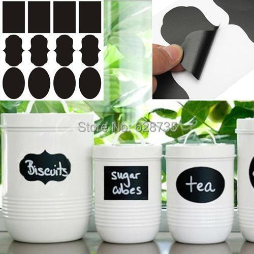 Free shipping 3 Designs 24pcs/lot Vinyl Chalkboard Label Stickers,Modern kitchen Organizing Chalkboard Stickers Decor(China (Mainland))