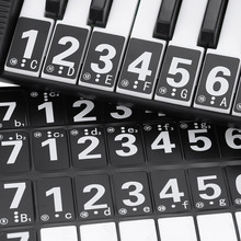 Black 49 61 Key Electronic Keyboard 88 Key Piano Numbered Musical Notation Note Sticker for White Keys(China (Mainland))