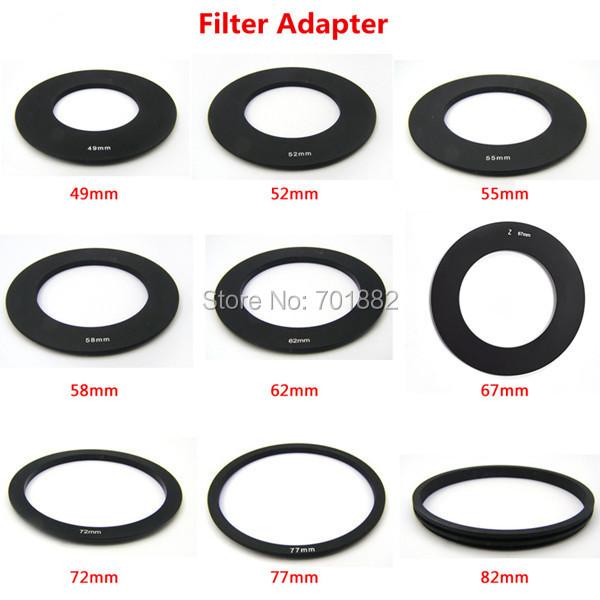 Color Filter Ring Adapter 49 52 55 58 62 67 72 77 82mm+Filter ND 2 4 8 Gradual Grey Orange Blue+Filter holder+Filter Bag 17in1(China (Mainland))