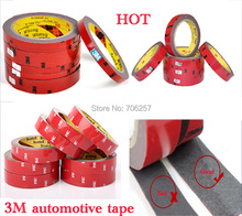 12% off 3M Tape Double-sided tape Width 0.6/0.8/1/1.5/2 mm chose long 3 meter Car Interior Tape free shipping