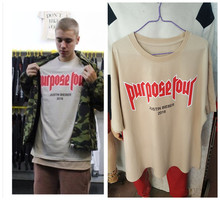 Purpose Tour vfiles justin bieber t shirt men fear of god cotton short sleeve t-shirt brand hip hop off white tshirt homme