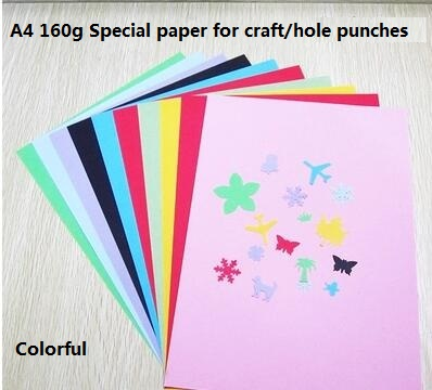 free shipping of 10pcs/bag colourful 160 gsm craft punch hand texture paper for greeting card handmade artwork and decoration(China (Mainland))