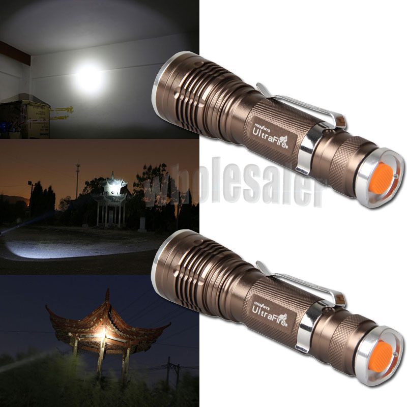 Hot Selling 2x Ultrafire Zoomable 1800LM CREE XM-L Q5 LED Flashlight Torch Lamp Light USA XM1099 / HF1099(China (Mainland))