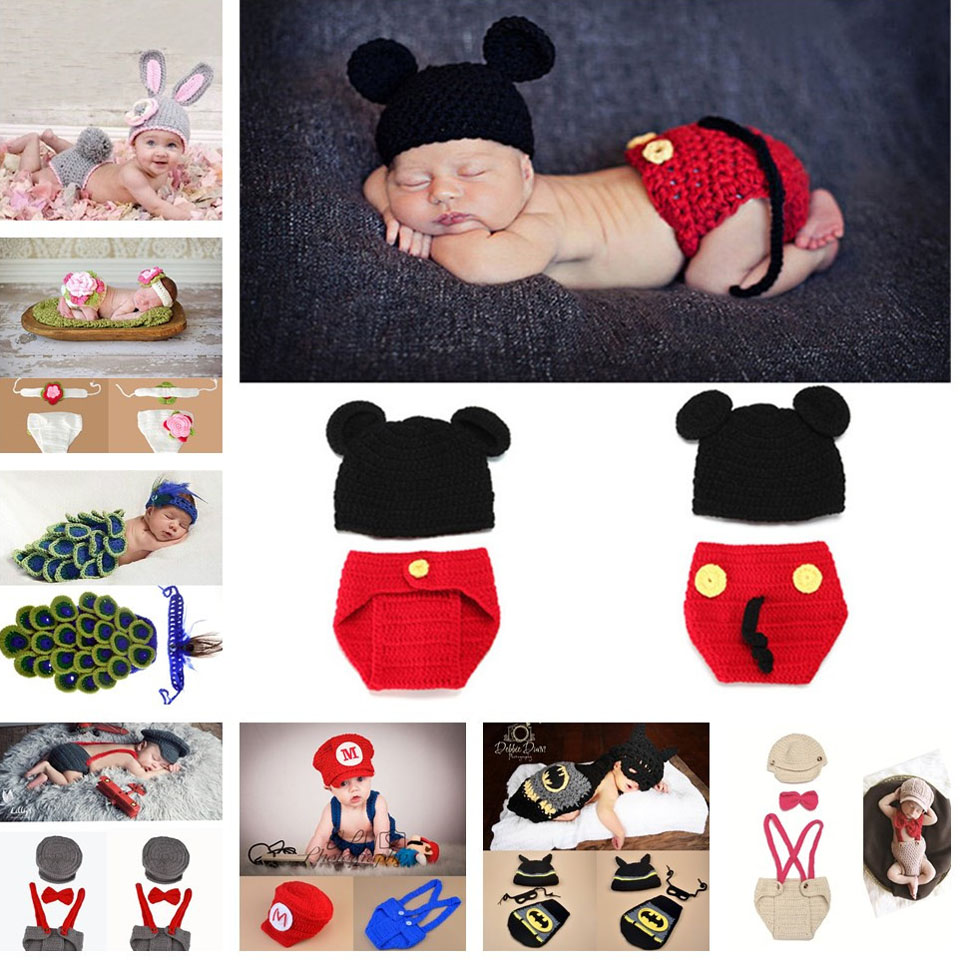 9 Designs Baby Crochet Photo Props Infant Baby Crochet Animal Hats Beanie Knitted Toddler Baby Costume 1pc/lot MZS-14037(China (Mainland))