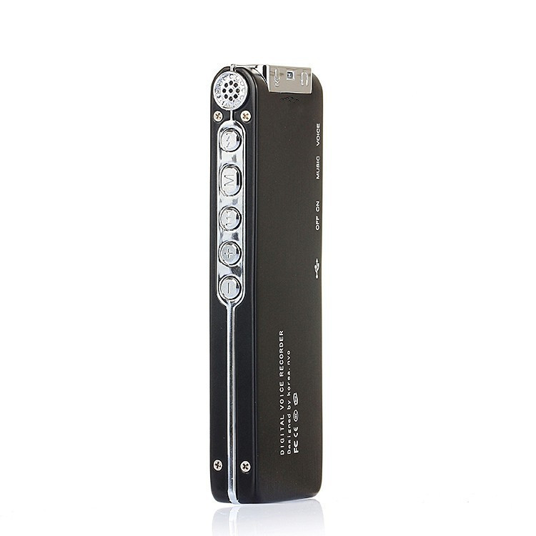 Free Shipping Portable MINI Digital Voice Recorder With 4GB MP3 Format USB Telephone Recording SK-015 black(China (Mainland))
