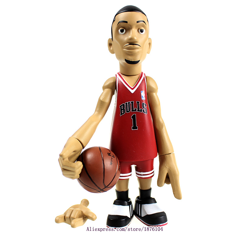 16cm NBA The Chicago Bulls All-Star Basketballplayer Derrick Rose Action Figure Q Version Of Mode For Christmas Gift(China (Mainland))