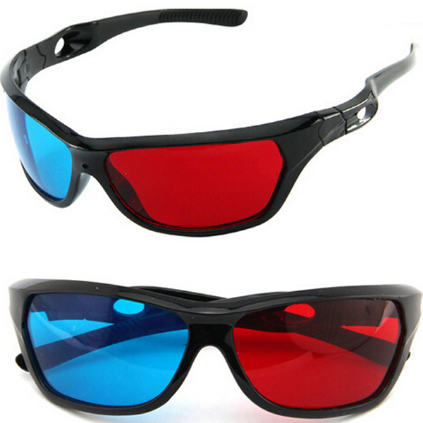 Hot New 2015 Red And Blue Color Universal Type 3D Glasses TV Movie Dimensional Anaglyph Video Frame 3D Vision Glasses Game Glass(China (Mainland))