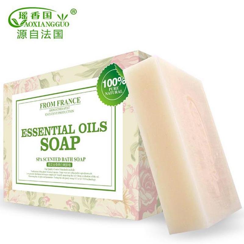 Feminine Hygiene Product Skin Care Peach Blossom Body Whitening Handmade Soap Bath Shower Soap Beauty Valentine's Day Gift(China (Mainland))