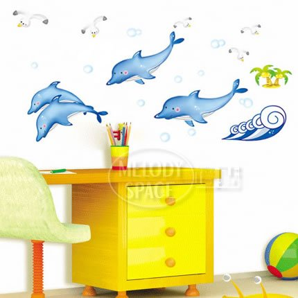 Free shipping Ihome the third generation wall stickers 300-pound cartoon child real walls sticker bathroom tile stickers m3505(China (Mainland))