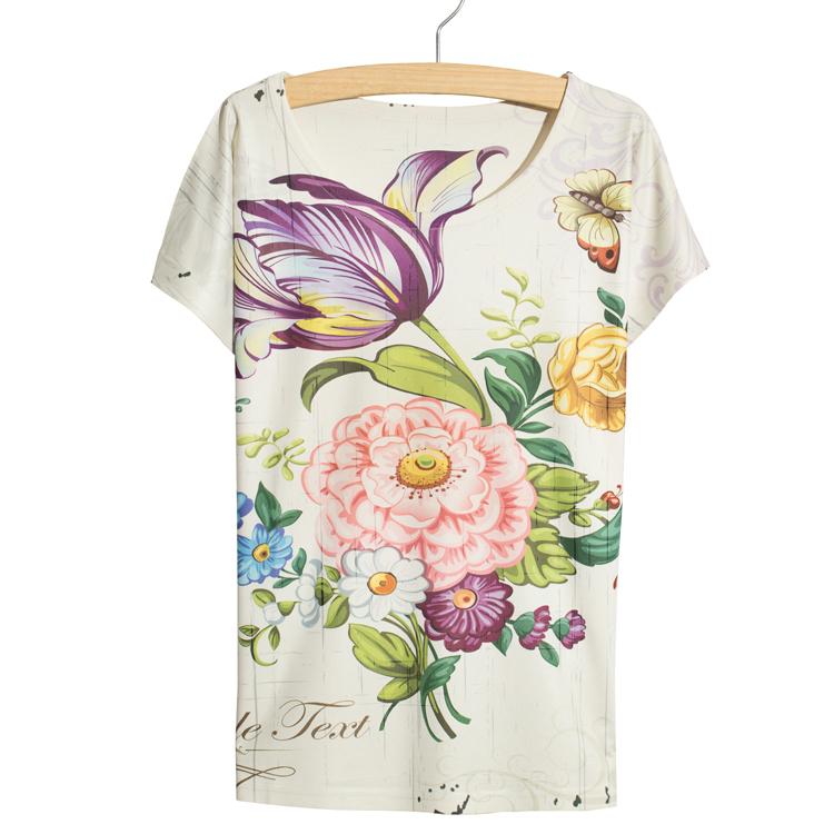 Milk silk 2015 summer style brand t shirt women t-shirt women printed tshirts vintage kawaii college(China (Mainland))