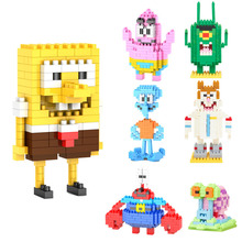 SpongeBob Diamond Building Blocks Present Gift Patrick Star Squidward Tentacles Eugene H. Krabs Bricks Action Figures Toy