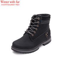 MEMUNIA 2019 nuovi stivali moda caviglia per le donne della piattaforma stivali invernali lace up punk punta rotonda scarpe casual scarpe da donna grande formato 41(China)