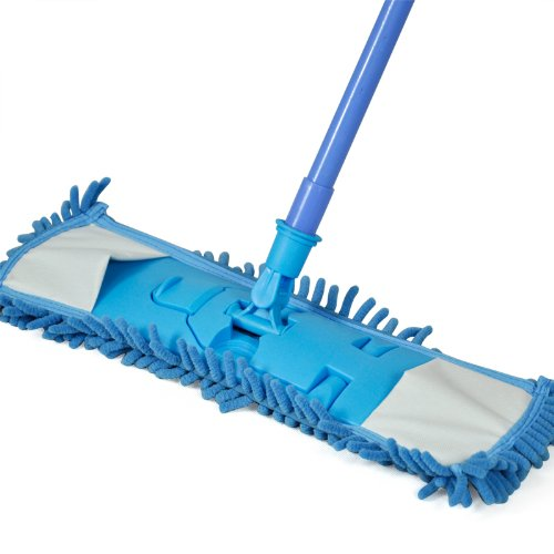 CLOS Smallwise Trading Extendable Microfibre Mop Kitchen Noodle Mop Vinyl Wood Floor Cleaner (Blue)(China (Mainland))