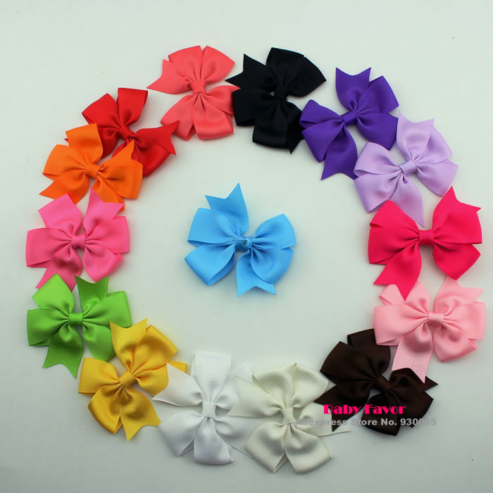 Lot 15 Pieces Bowknot Headbands Hair Bows DIY Accessories Grosgrain Ribbon For Kids Baby Girls Newborn Bebe Infantil Wholesale(China (Mainland))