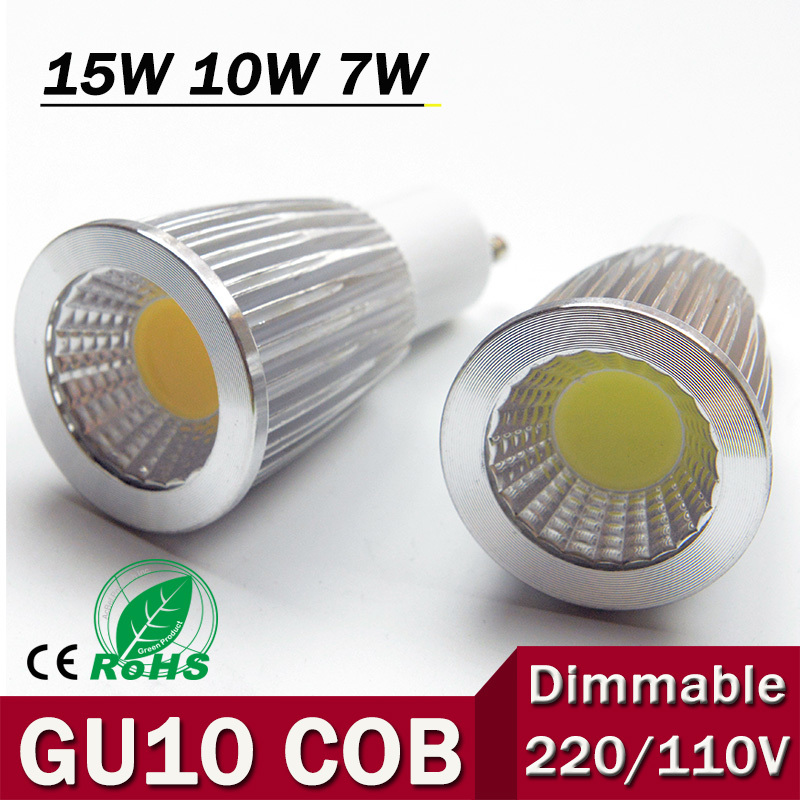 1pcs New High Power CREE MR16 GU10 E27 E14 7W 10W 15W LED COB spotlight lamp bulb warm cool white 85-265V CE ROHS(China (Mainland))