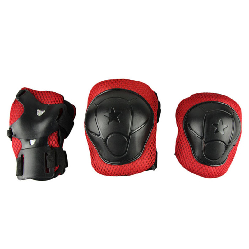 New Kids Cycling Roller Ski Skate Skating knee elbow WRIST Safety Gear Pads for baby children(China (Mainland))