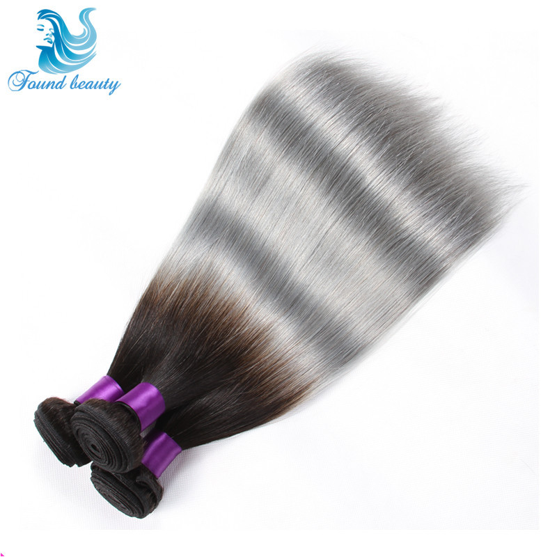 1bsilver gray ombre hair extensions cambodian straight virgin 149 pmusecretfo Choice Image
