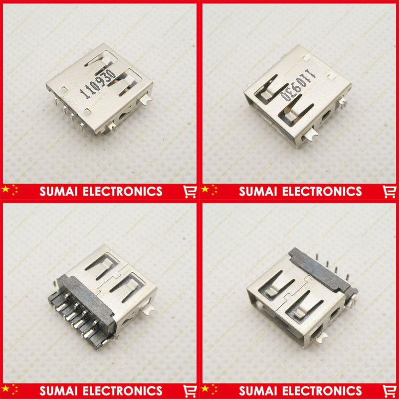 10pcs/lot Laptop 2.0 USB female jack connector USB Port for HP DELL ACER LENOVO etc(China (Mainland))