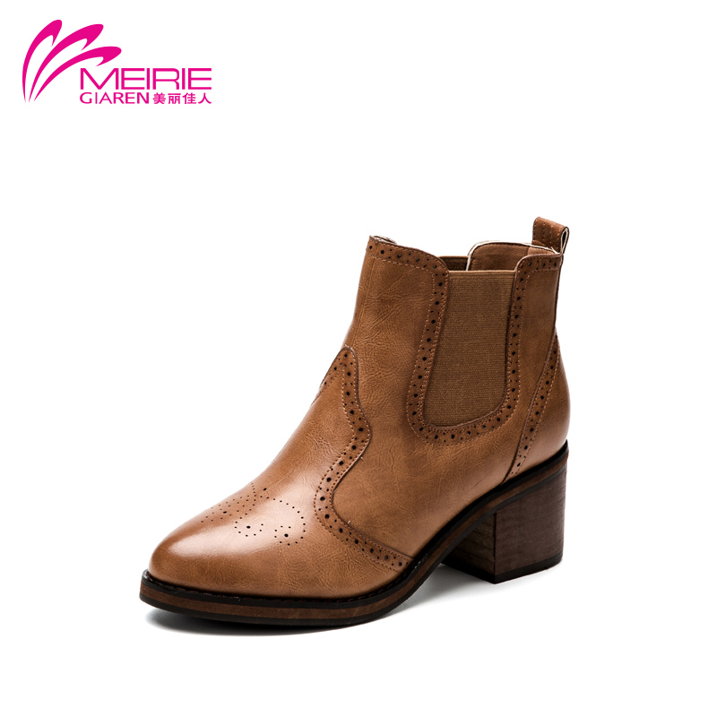 AOKANG New Women boots Martin boots Fashion Shoes Women Autumn And Winter Boots<br><br>Aliexpress