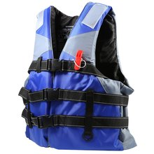 4 Sizes Professional Swimwear Polyester Adult Life Jacket Foam Vest Survival Suit with Whistle for Swimming Drifting (China (Mainland))